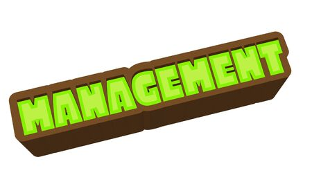 Management Text for Title or Headline. In 3D Fancy Fun and Futuristic style Stock Photo