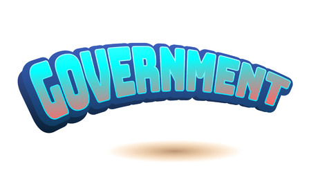 Government Text for Title or Headline. In 3D Fancy Fun and Futuristic style Stock Photo