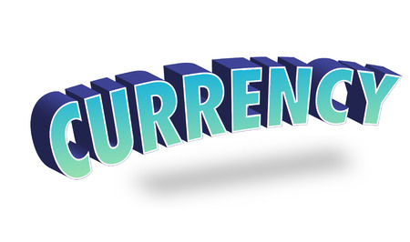 Currency Text for Title or Headline. In 3D Fancy Fun and Futuristic style