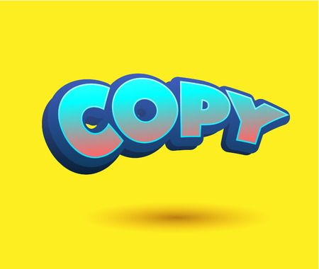 Copy Text for Title or Headline. In 3D Fancy Fun and Futuristic style