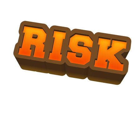 Risk Text for Title or Headline. In 3D Fancy Fun and Futuristic style