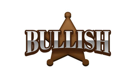 Bullish Text for Title or Headline. In 3D Fancy Fun and Futuristic style