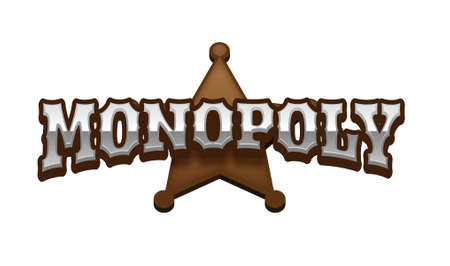 monopolio: Monopoly Text for Title or Headline. In 3D Fancy Fun and Futuristic style