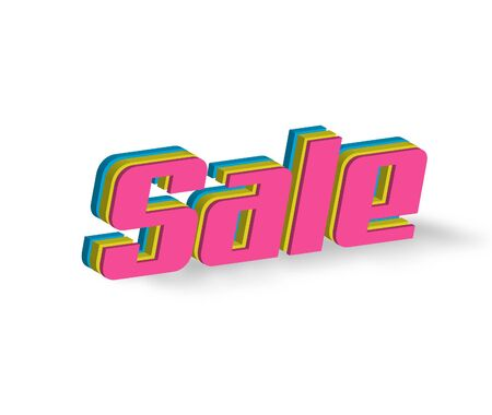 Sale Text for Title or Headline. In 3D Fancy Fun and Futuristic style