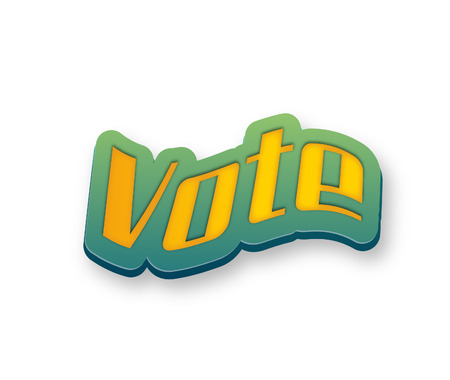 Vote Text for Title or Headline. In 3D Fancy Fun and Futuristic style