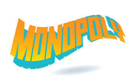 Monopoly Text for Title or Headline. In 3D Fancy Fun and Futuristic style