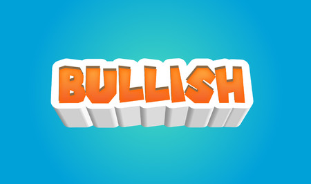 bullish market: Bullish Text for Title or Headline. In 3D Fancy Fun and Futuristic style