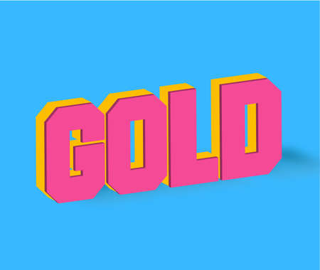 Gold Text for Title or Headline. In 3D Fancy Fun and Futuristic style