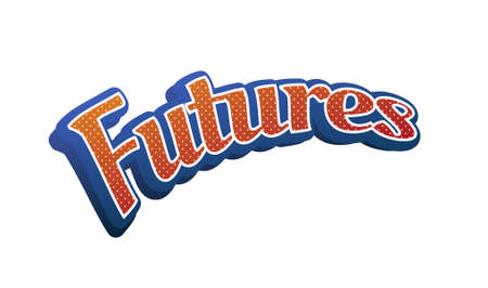 Futures Text for Title or Headline. In 3D Fancy Fun and Futuristic style