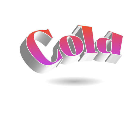 Cold Ice Text for Title or Headline. In 3D Fancy Fun and Futuristic style