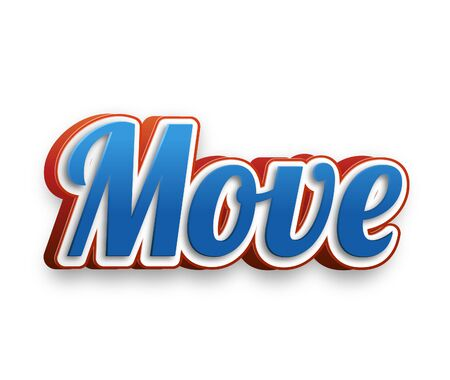 move in: Move Text for Title or Headline. In 3D Fancy Fun and Futuristic style