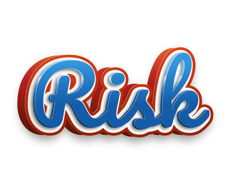 gamble: Risk Text for Title or Headline. In 3D Fancy Fun and Futuristic style