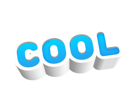 Cool Text for Title or Headline. In 3D Fancy Fun and Futuristic style Stock Photo