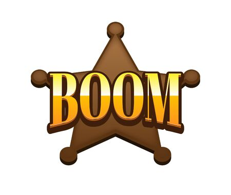 Boom Text for Title or Headline. In 3D Fancy Fun and Futuristic style