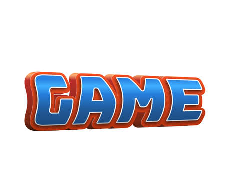 silver: Game Text for Title or Headline. In 3D Fancy Fun and Futuristic style