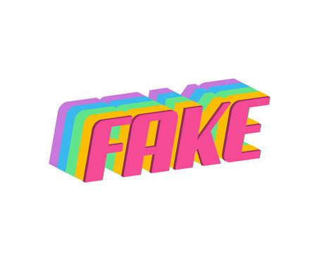 제목 또는 헤드 라인의 가짜 텍스트. 3D Fancy Fun and Futuristic 스타일
