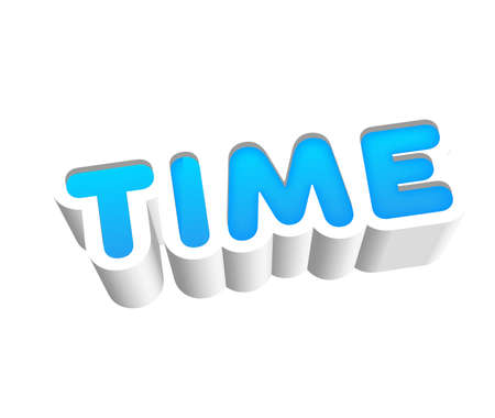silver: Time Text for Title or Headline. In 3D Fancy Fun and Futuristic style