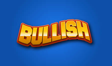 commodities: Bullish Text for Title or Headline. In 3D Fancy Fun and Futuristic style
