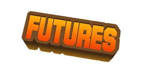 제목 또는 제목에 대한 선물 텍스트. 3D Fancy Fun and Futuristic 스타일 스톡 콘텐츠