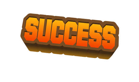 silver: Success Text for Title or Headline. In 3D Fancy Fun and Futuristic style