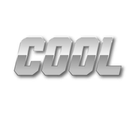 silver: Cool Text for Title or Headline. In 3D Fancy Fun and Futuristic style Stock Photo