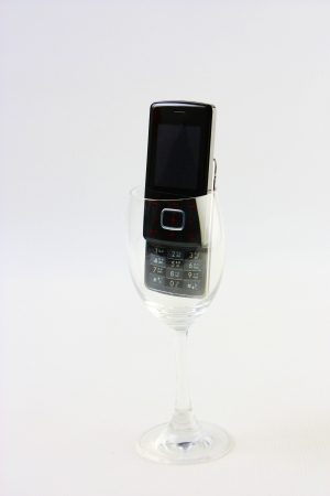 black mobile in glass Фото со стока - 20182985