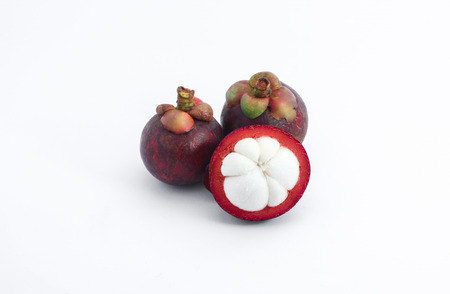appointed: Mangosteen has been appointed as the queen of fruit with sweet taste Stock Photo