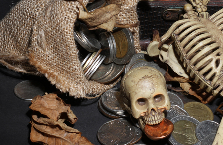 cursed: Bone guarding the treasure Stock Photo