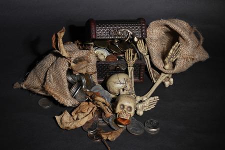 guarding: Bone guarding the treasure Stock Photo