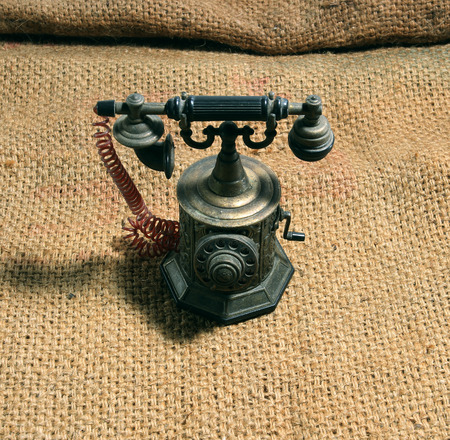 ancient telephone: Telephone ancient preserved longer. As the technology is obsolete, but still charming. Stock Photo