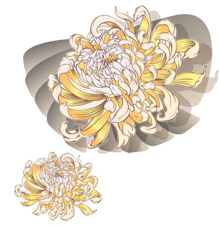 Japanse bloempatroon. koele voor Tattoo borststuk