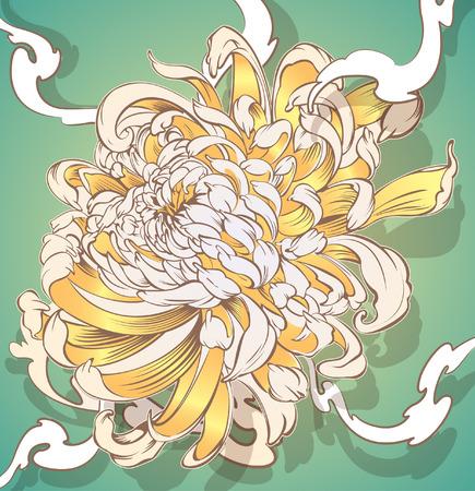 Japanse bloempatroon. koele voor Tattoo