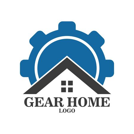 Illustration Vector graphic of Gear Home Logo, Real Estate Logo and construction