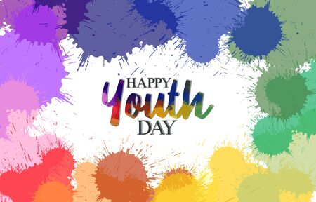Illustration Vector Graphic Of International Youth Day Poster Background, Good Design For International Youth Day Theme Design