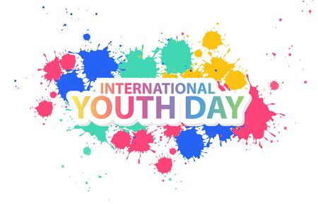 Illustration Vector Graphic Of Colorful Text Backgrund, Good Design For International Youth Day Theme Design
