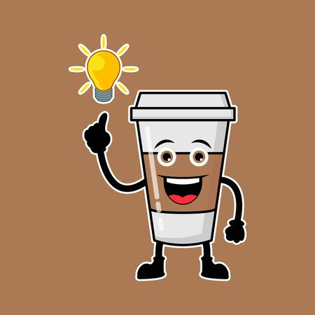 Illustration Vector Graphic Of Cute Characters Coffee Drinks Get Ideas, Design suitable for mascot drinks