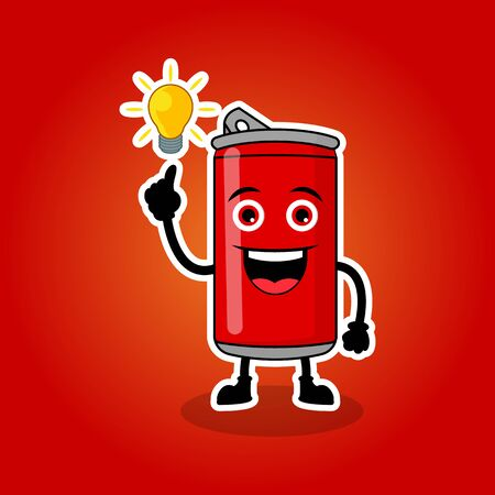 Illustration Vector Graphic Of Cute Fizzy Mascot Soft drinks Get Ideas, Design Suitable For Mascot Drinks