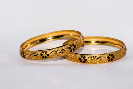 Designed Golden Bangles Jewelery