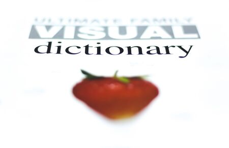 Visual dictionary. Topic and Category on colorful background for Dictionary.
