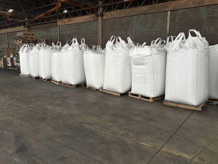 Stock pile Chemical fertilizer jumbo-bag in warehouse waiting for shipment. Reklamní fotografie