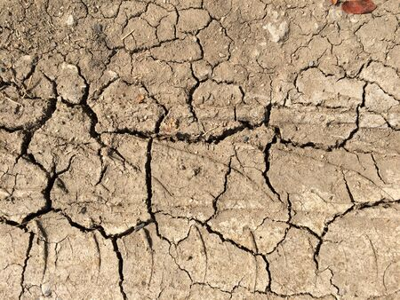 Background of dry ground From destruction of natural resources Stock Photo