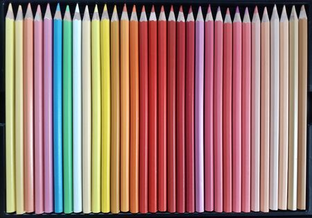 Many crayon background, light color gradation, dark color, beautifully arranged.