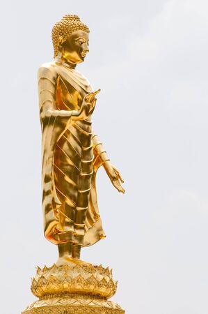 Golden buddha statue isolated on white background Stock Photo - 19316784