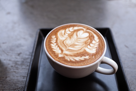 Cup of latte coffee photo