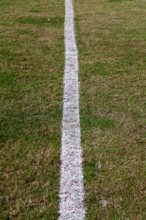 Line on the soccer field photo