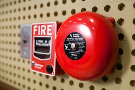 alarm button: Fire alarm switch Stock Photo