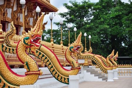 Thai dragon, King of Naga statue photo