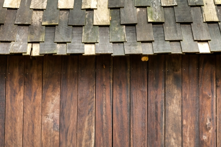 cedar shakes: Wood roofing pattern detail with wall