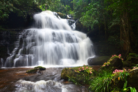Mhundaeng waterfall Phu Hin Rong Kla; National Park at Phitsanulok, Thailand photo