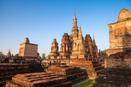 Sukhothai historical park  Buddhist temple ruins in Sukhothai historical park,Thailand photo